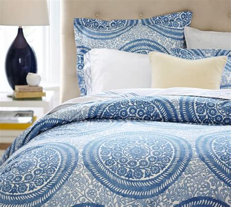 medallion bedding nora medallion organic duvet cover sham pottery barn