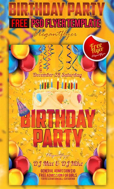 free psd birthday templates 90 awesome free psd flyer templates