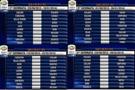 Calendario Serie A Lazio Calcio Serie A 2013 2014 Ecco Il Calendario Subito Juve