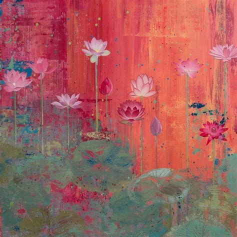 lotus painting images by diana stetson