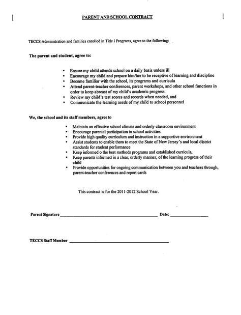 Parent Child Contract Templates Sletemplatess Sletemplatess Parent Child Contract Templates Free