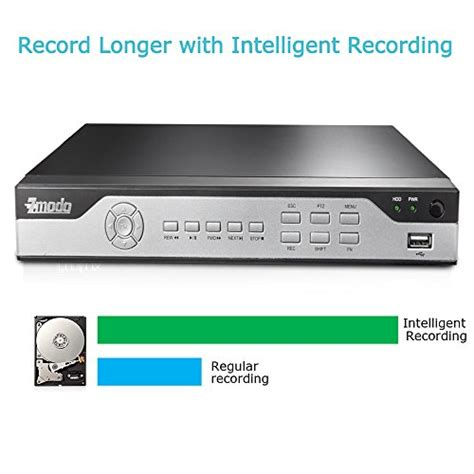 zmodo 8 channel h 264 960h security dvr with 2tb hdd qr code zmodo khi8 yaruz8zn 1t 8 channel h 264 960h dvr security