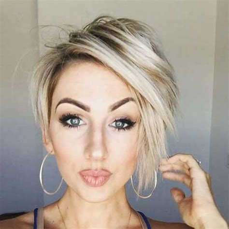 hairstyle ideas short blonde hair chic short hair ideas for round faces short hairstyles