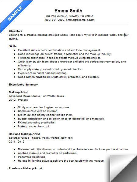 makeup artist resume templates best resume and cv inspiration makeup