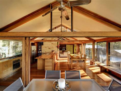 treetops home  bruce rickard blends rustic elements