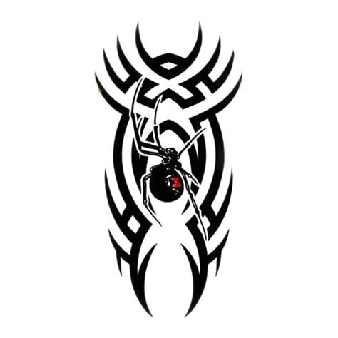cool tribal spider black widow tattoo design