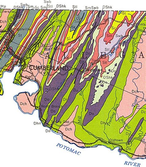 maryland formation map geologic maps of maryland allegany county central 1968