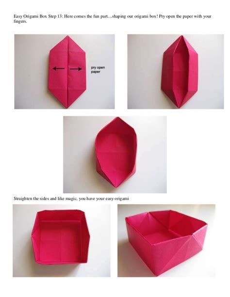 Origami In The Box - easy origami box step 1