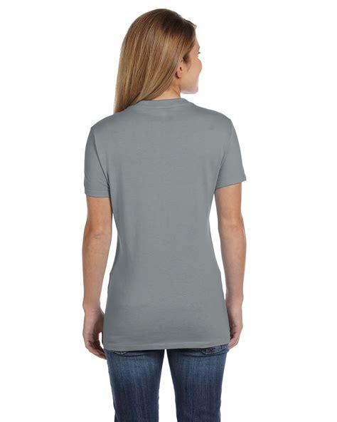 Hanes Cotton For 4 new hanes s 4 5 oz 100 cotton sleeve nano t v neck t shirt m s04v ebay