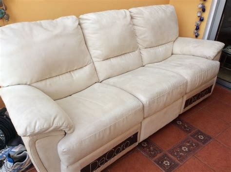 3 seater faux suede recliner sofa for sale in
