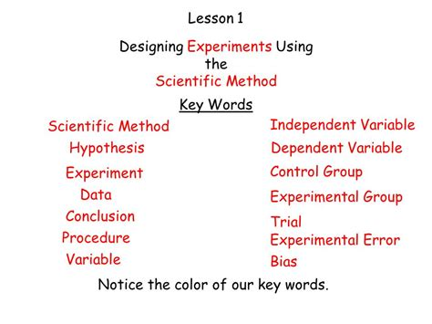 design an experiment using the scientific method exle experimental design worksheet scientific method answer key