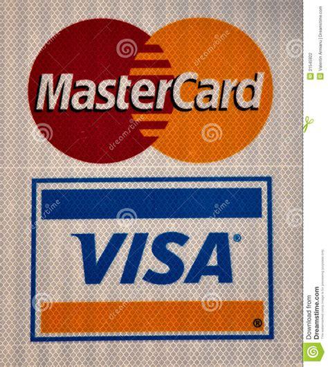 Visa And Master Card Logo Editorial Photography   Image