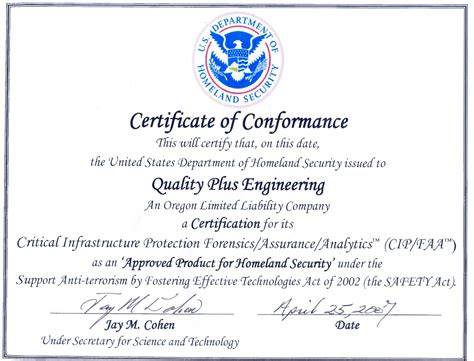 image gallery certification certificate