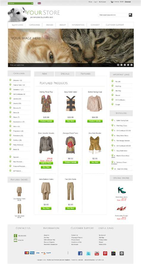 zen cart layout 14916pro zen cart template 14916 ins 50 00 zen