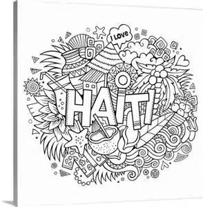 haiti coloring canvas wall art print entitled haiti