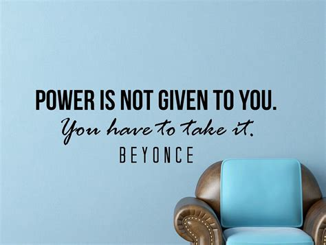 frases de urano beyonce quote inspirational wall decal typography home