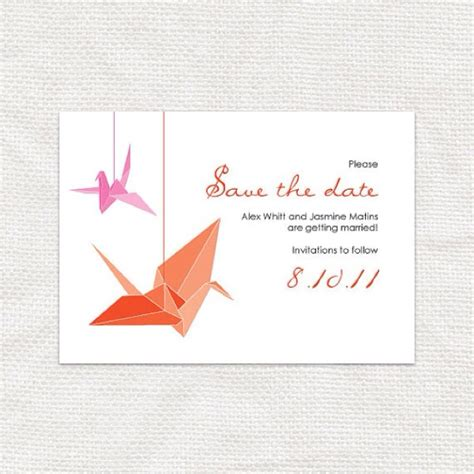 Origami Invitation - origami crane wedding invitations wedding things