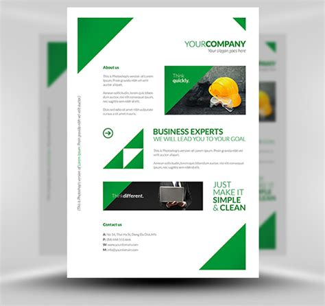 corporate template free clean corporate a4 flyer poster template