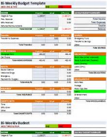 Biweekly Budget Template Document Templates 3 Free Spreadsheet Bi Weekly Budget