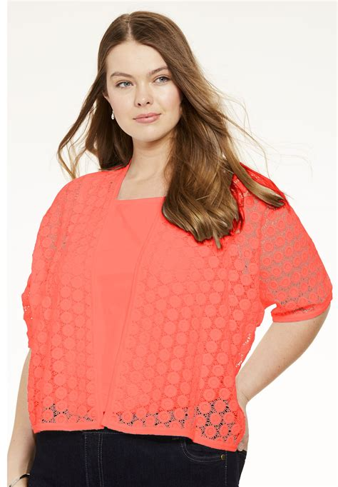 Embroidered Cardigan embroidered lace cardigan plus size sweaters cardigans
