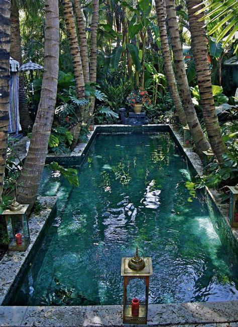 tropical garden  swimming pool httplometscom