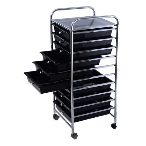 10 drawer rolling cart organizer convenience boutique 10 drawer rolling organizer storage
