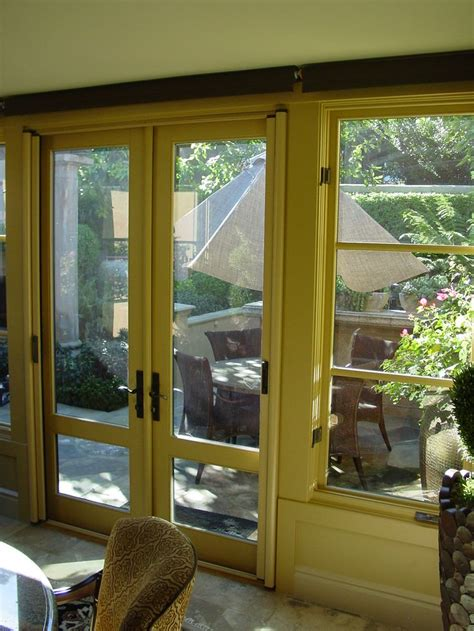 Retractable Patio Screen Door Custom Color Stowaway Invisible Screen Door For Outswing Doors Inside Mount Retractable