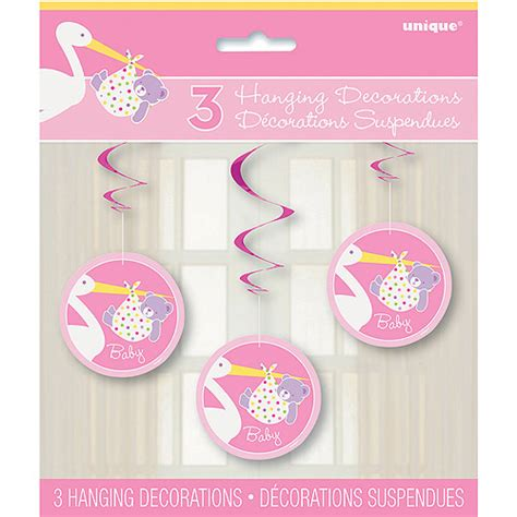 Walmart Baby Shower Supplies by Pink Stork Baby Shower Hanging Swirl Decorations 3pk