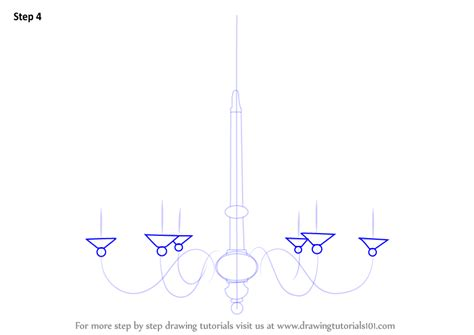 How To Draw A Chandelier Learn How To Draw A Chandelier Furniture Step By Step Drawing Tutorials