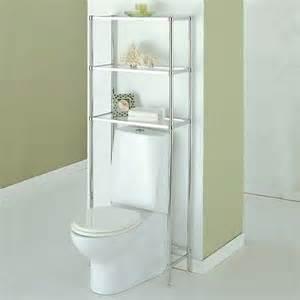 Bathroom Space Saver Chrome Toilet Space Saver Chrome Frame W Glass Shelves