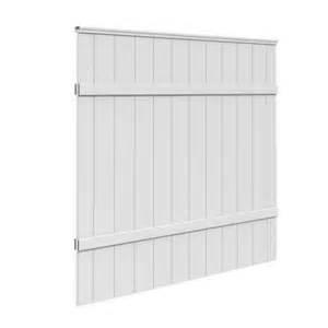 home depot white fence veranda 6 ft h x 6 ft w white vinyl windham fence panel