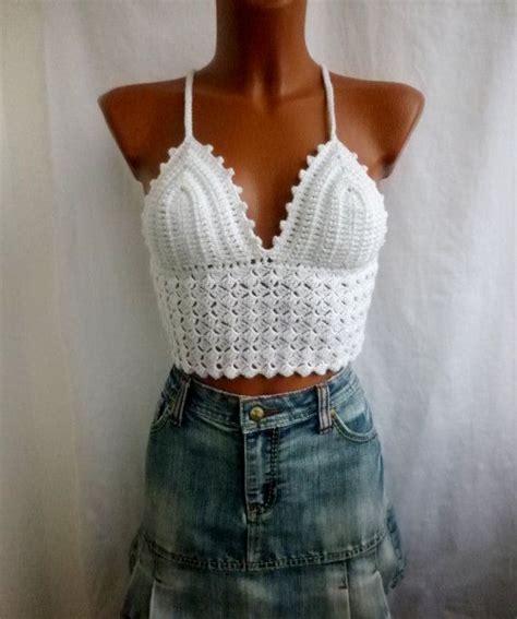 Crochet Lace Bustier Top festival bustier corset white crochet crop top by