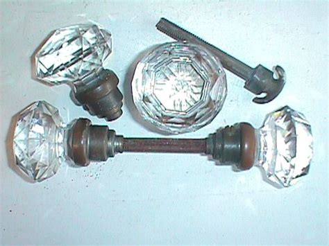 antique glass door knobs and back plates robinson