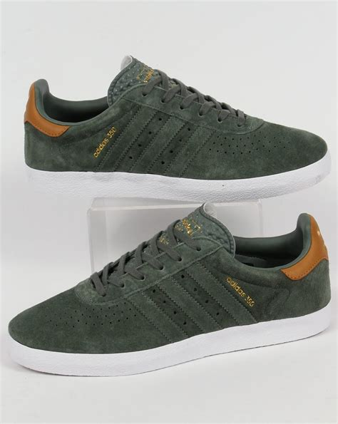 Adidas Originals Adidas Leather Green P 729 by Adidas 350 Trainers Trace Green Shoes Originals Mens
