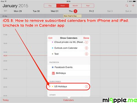 apple make your own calendar ios how to remove subscribed calendars from iphone and
