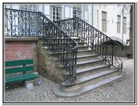 Wrought Iron Handrails For Exterior Stairs Wrought Iron Stair Railing Outdoor Home Design Ideas