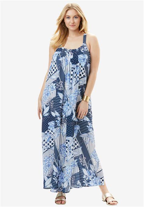 Tank Dress Plus Size Maxi by A Line Tank Maxi Dress Plus Size Casual Dresses