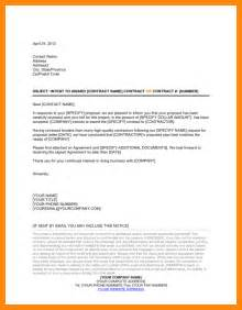 Vendor Award Letter Template 9 Bid Award Letter Template Resumed