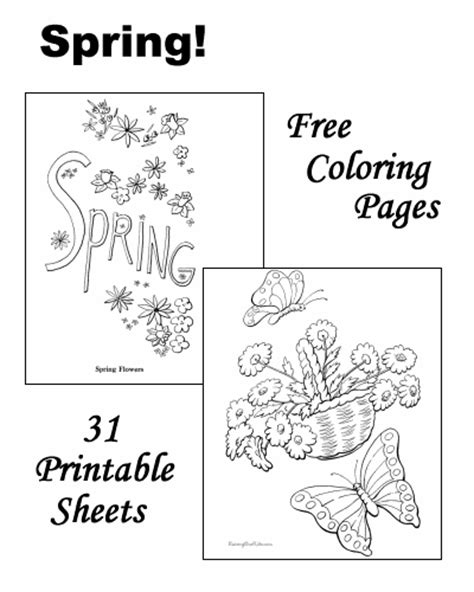 index of images printables spring spring coloring sheets and pictures