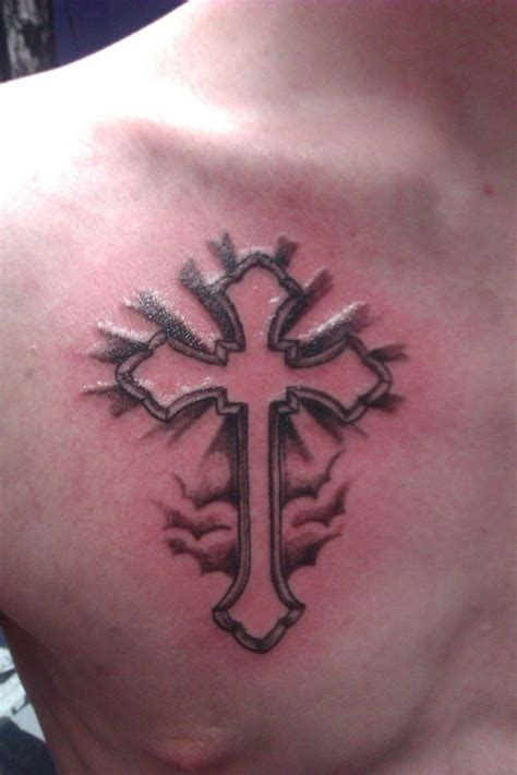 easy tattoos for guys simple chest tattoos small simple cross on chest