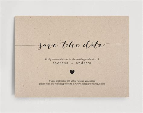 Save The Date Editable Template Instant Download Date Invitation Template