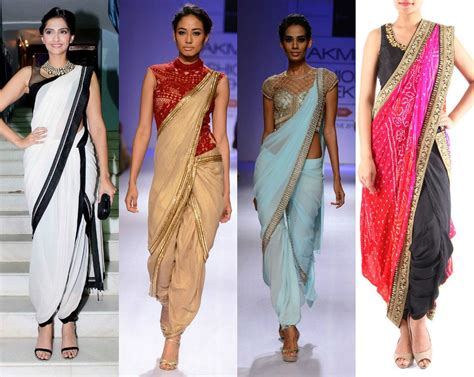 tight saree draping glamorous ways to wear pant style sarees to look like a