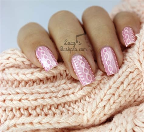 knitted nail art tutorial nails of the day 3d cable knit sweater hellogiggles
