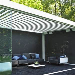 Pergola Adjustable Louvers by Motorized Pergola With Adjustable Louvers With Built In