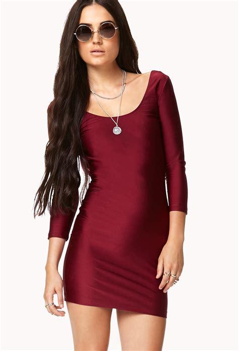Alona Dress Lavender Flh lyst forever 21 backless bodycon dress in purple