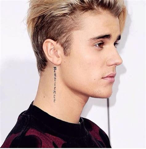 justin bieber tattoo on neck 27 awesome justin bieber neck tattoos