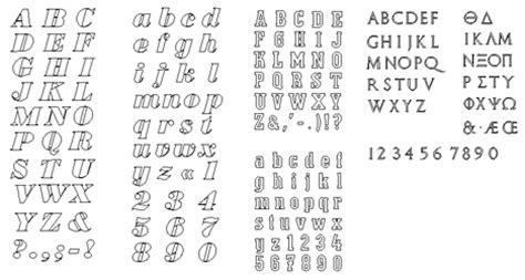 lettere dell alfabeto stilizzate lettere dell alfabeto e numeri in vettoriale