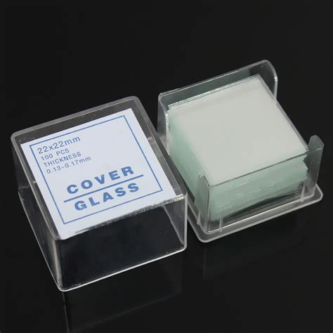 Cover Glass Mikroskop 100 Disposable Clear Lab Microscope Cover Glass Coverslip