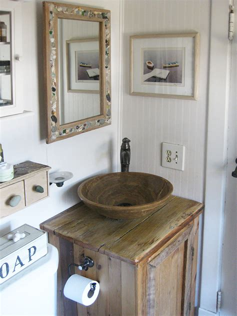 Very Small Bathroom Storage Ideas Rustic Wood Bathroom Sink Vanity Abodeacious