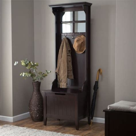 small hall tree storage bench small entryway hall tree coat rack with storage bench